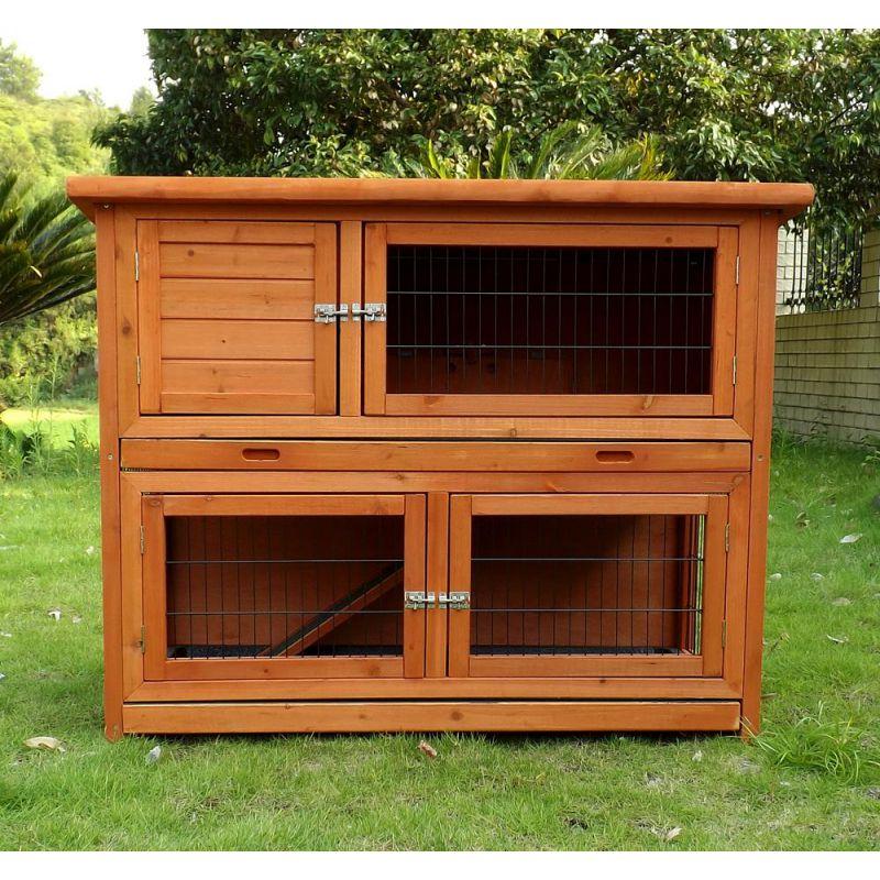 kaninchenstall kleintierhaus hasenstall kleintierk fig nr. Black Bedroom Furniture Sets. Home Design Ideas