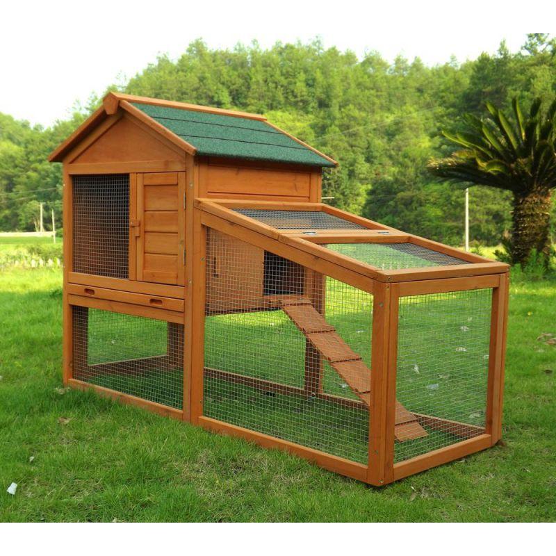 Kaninchenstall kleintierhaus hasenstall kleintierk fig nr - Kaninchenstall selber bauen aus schrank ...