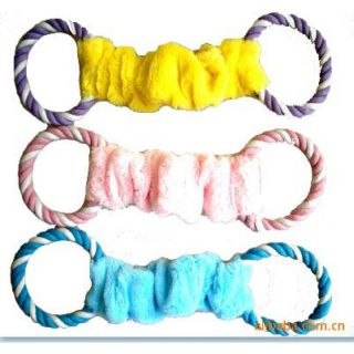 Dog and cat toy no. 01 Pull Ring yellow