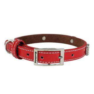 Dog collar / leash no. 06 Footsteps red